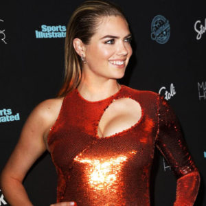 Kate Upton Showed Cleavage At Sports Illustrated Party In New York