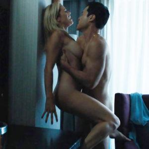 Rough sex in bed scene