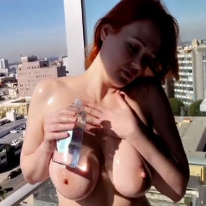 Maitland Ward Juicy Oily Topless In Snapchat Story Video