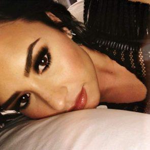 18-Demi-Lovato-Nip-Slip-Bed-Selfie