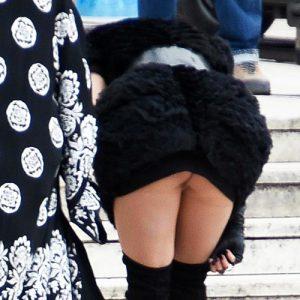 Rita Ora Pussy Slip On The Set In Rome