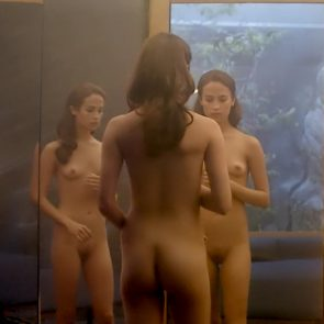 Alicia Vikander And Gana Bayarsaikhan Nude Boobs And Bush In Ex Machina Movie