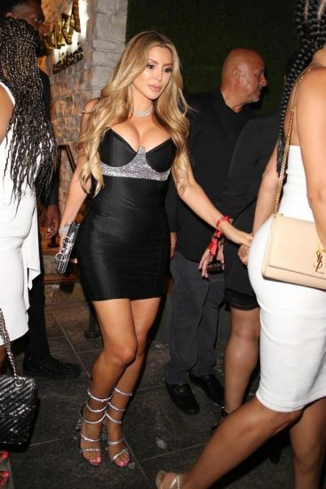 Larsa Pippen hot cleavage