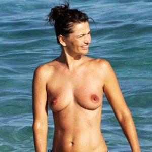 Model Paulina Porizkova Nude Tits On The Beach