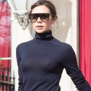 Victoria Beckham Showed Her Tits In See Through Blouse