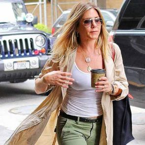 Jennifer Aniston nipples in white blouse