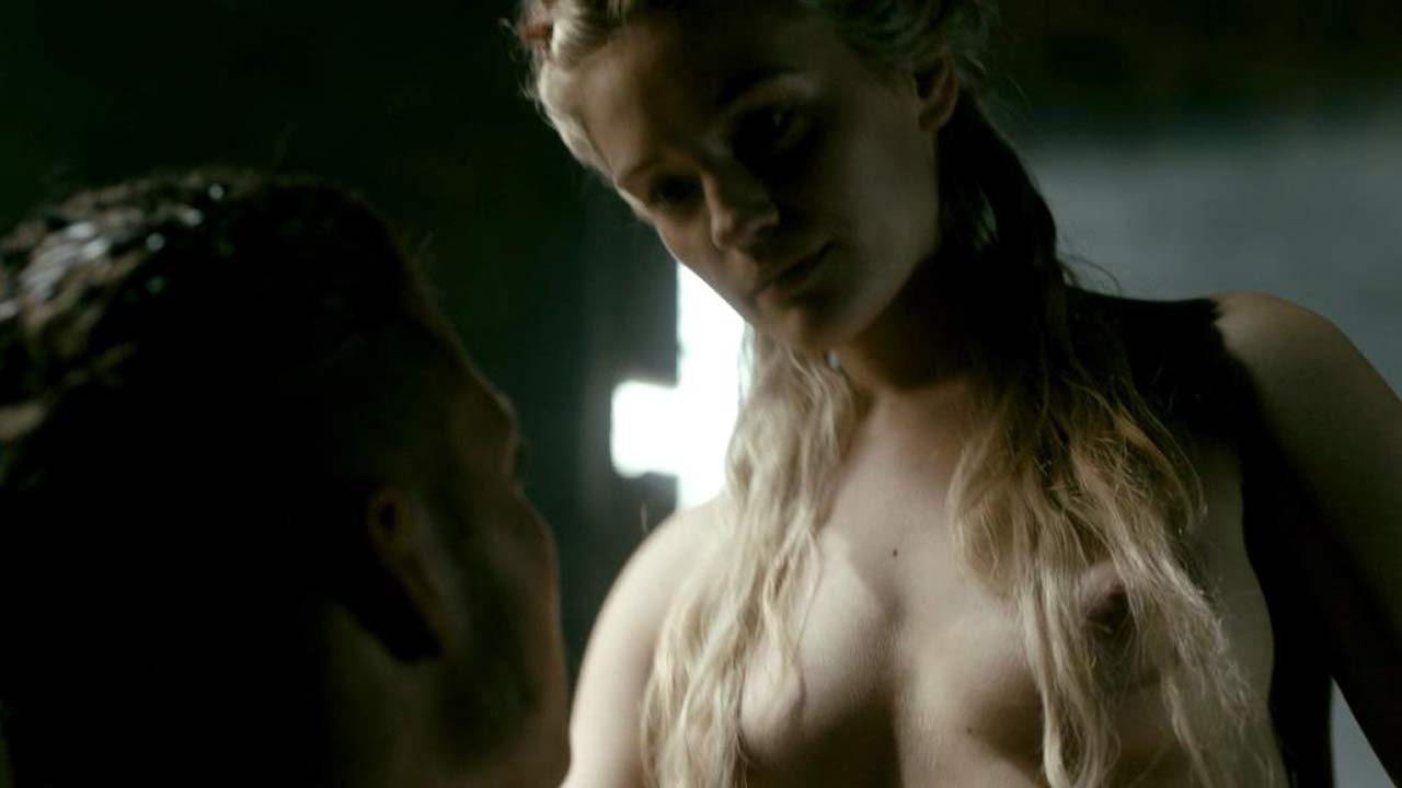 Alicia Agneson Nude Butt Tits In Scene From Vikings Series