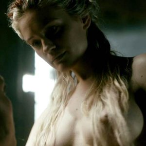 Alicia Agneson Nude Butt & Tits In Scene From 'Vikings' Series