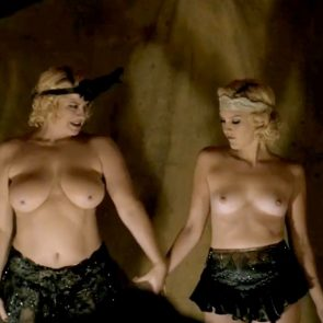 Carla Gallo And Cynthia Ettinger Nude Boobs In Carnivale Series