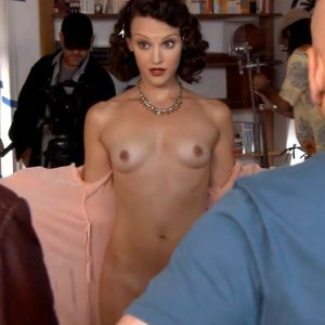 Sexy naked girl upskirt