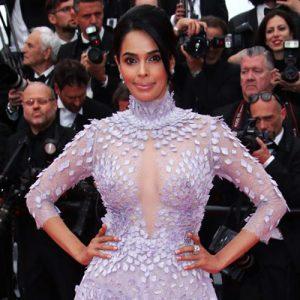 Bollywood Sex Symbol Mallika Sherawat Nude Nipples Through her Dress in Cannes