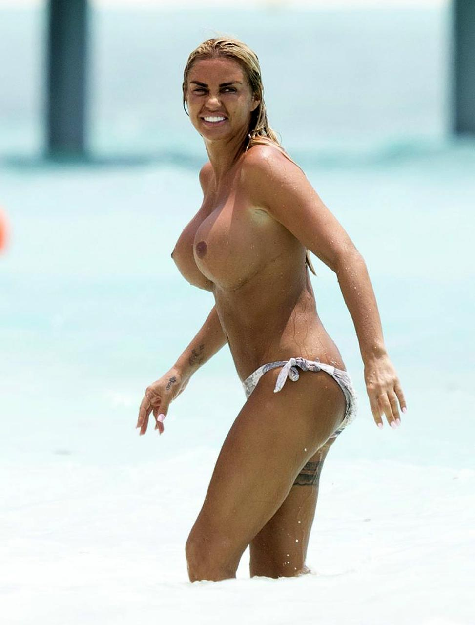 Katie Price topless in Maldives