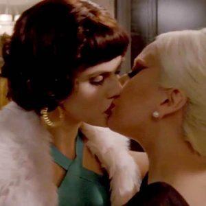 Alexandra Daddario & Lady Gaga Lesbian Kiss in 'American Horror Story'
