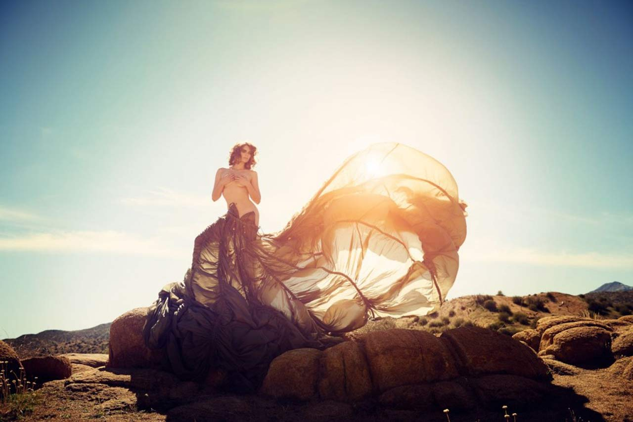 Lauren Cohan topless artistic shoot