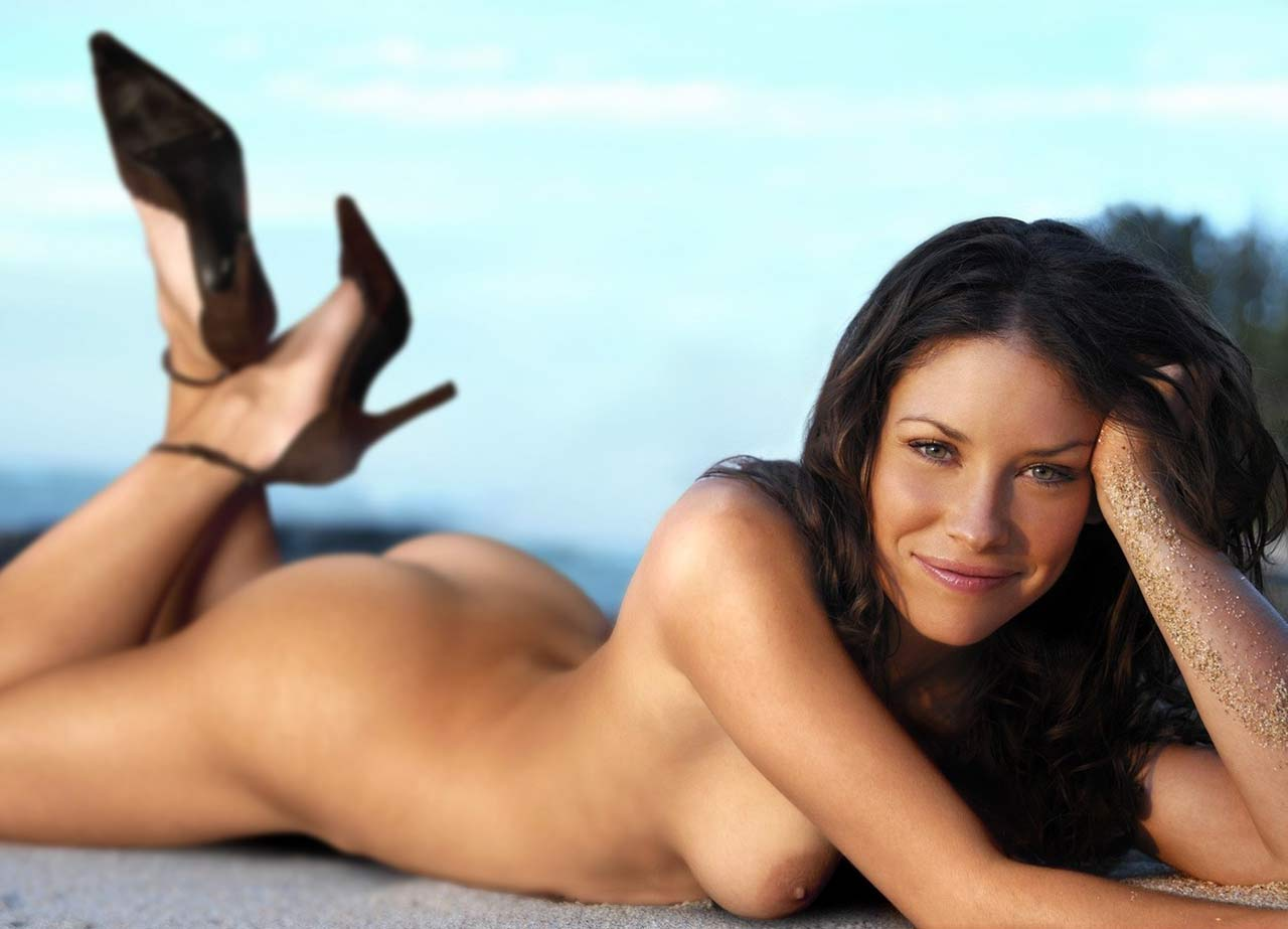 evangeline lilly modeling naked