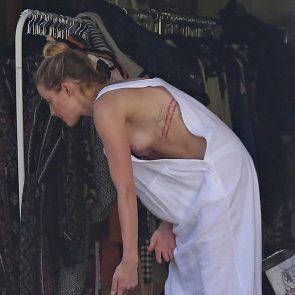Amber Heard sexy nip slip