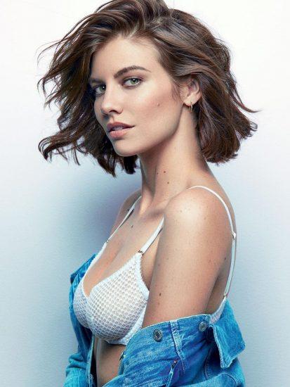 Lauren Cohan sports bra