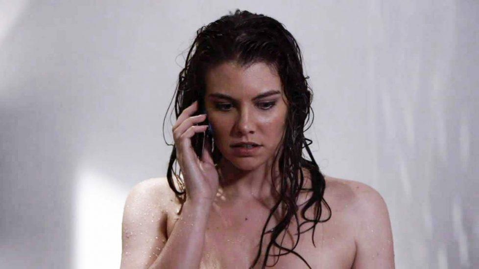 Lauren Cohan showering