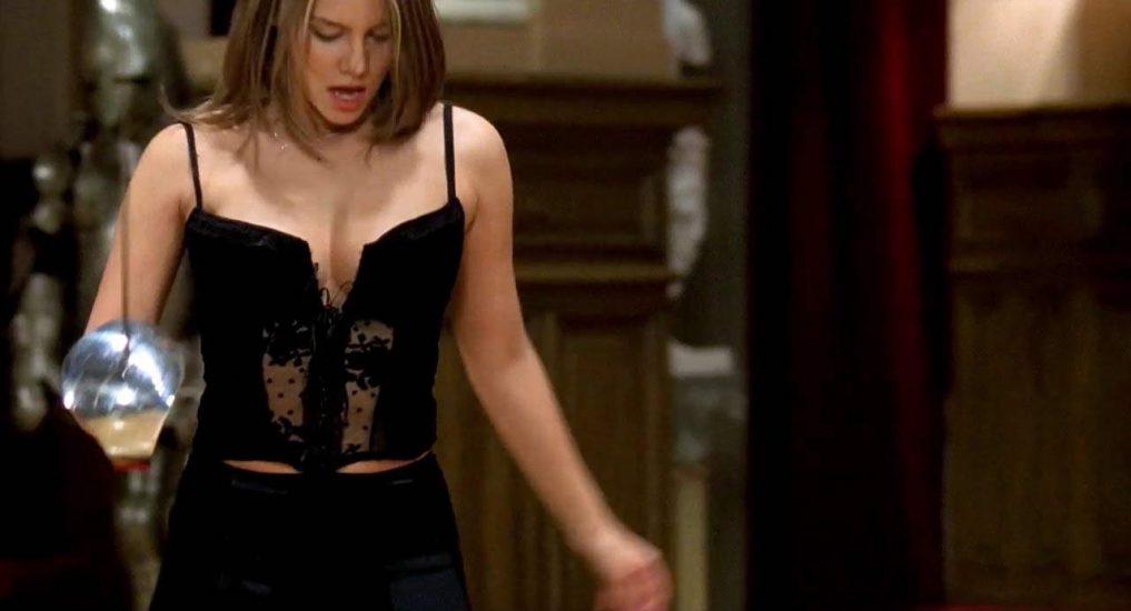 Lauren Cohan tits in big cleavage