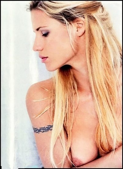 hot Michelle Hunziker topless