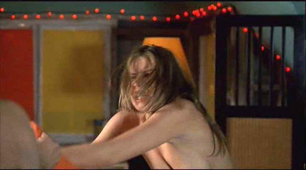 Lauren Cohan topless pillow fight