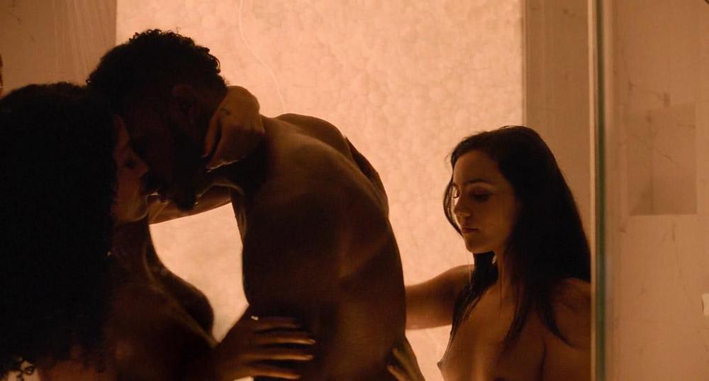 Andrea Londo naked threesome scene