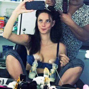 Actress Kaya Scodelario Nude Lactating Tits !