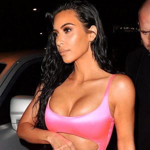 Kim Kardashian Hot Pink Dress For Kylie's Birthday Party !