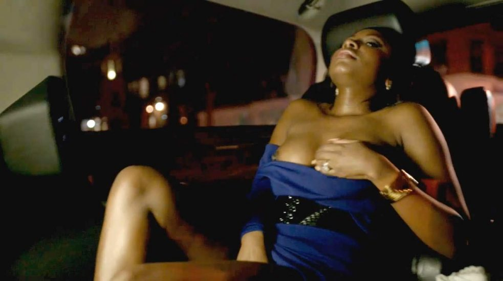 Naturi Naughton nude masturbating in car