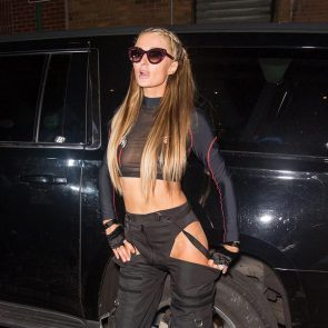 Paris Hilton black pants