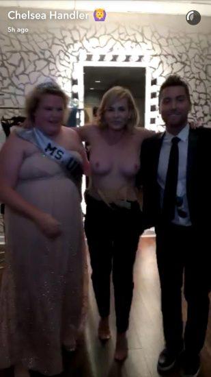 chelsea handler shows boobs