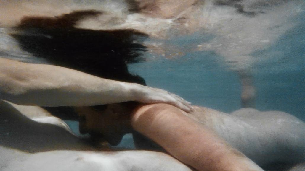 Nude Swimming posing