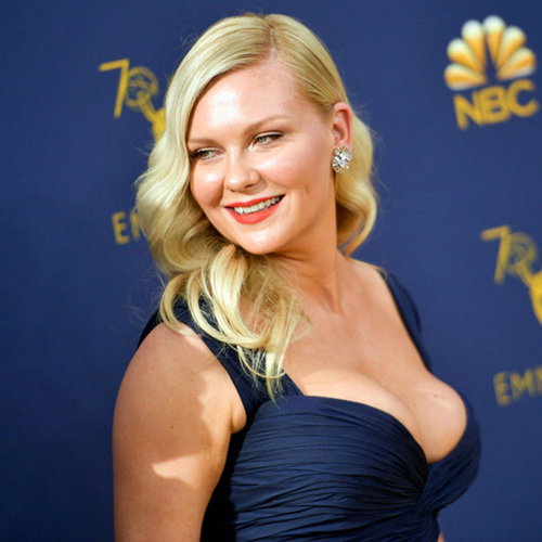 Kirsten Dunst Cleavage Exposed at Emmy Awards - Scandal Planet