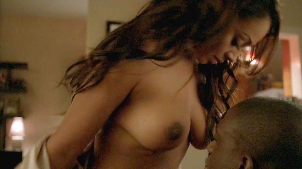 La La Anthony boobs in sex scene