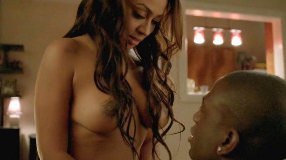 La La Anthony tits in sex scene