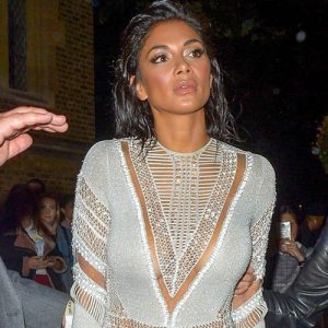 Nicole Scherzinger Braless on London Fashion Week