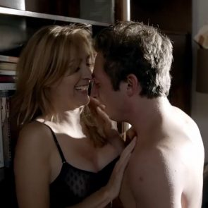 Sasha Alexander Wild Sex Against A Bookcase In Shameless Series