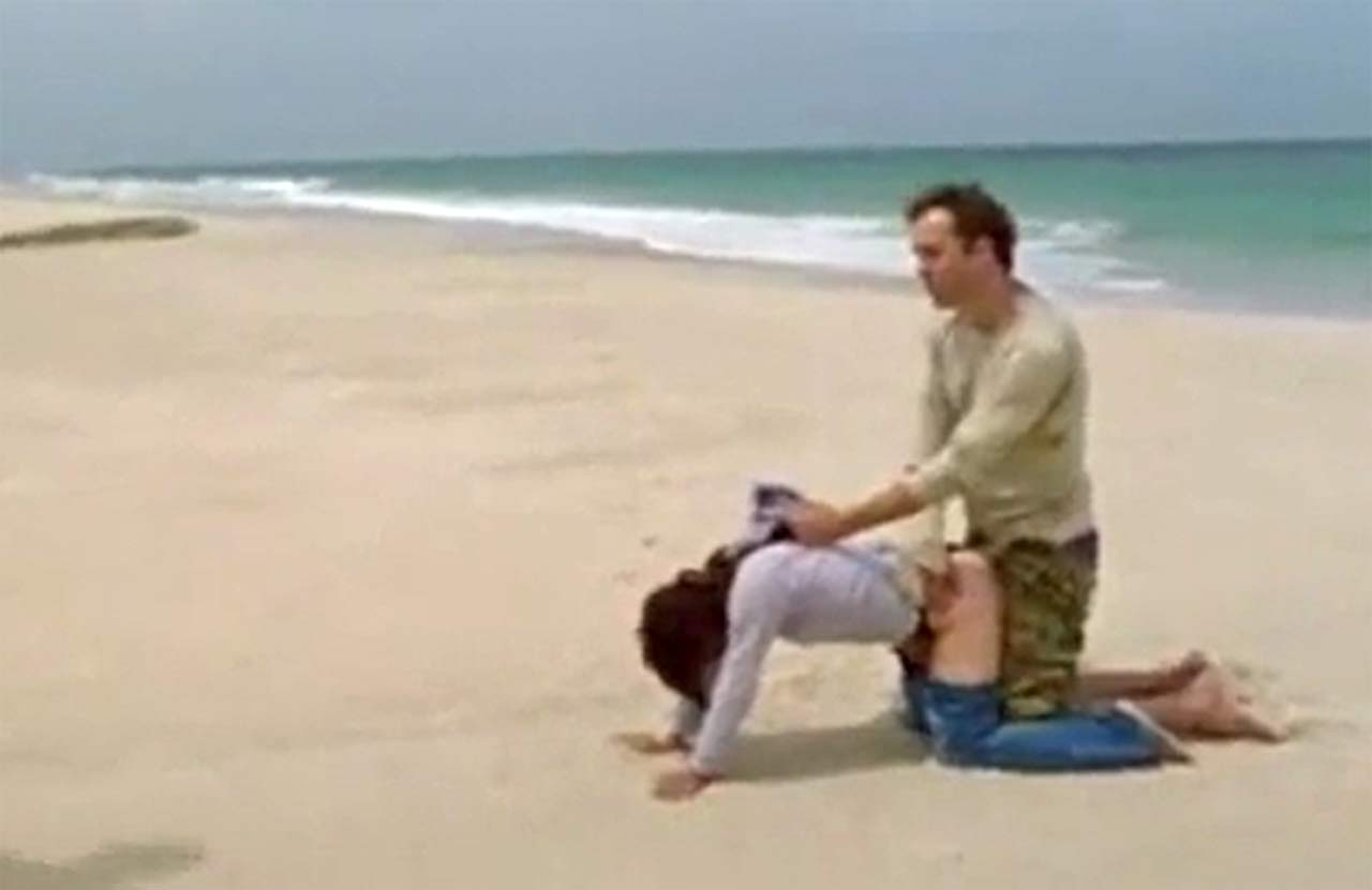 Beach Porn Film brunette forced sex scene at the beach in 'lost things