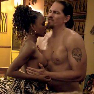 Shanola Hampton And Vanessa Bell Calloway Threesome Sex Scene In Shameless Series