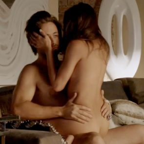 Stephanie Fantauzzi Nude Sex In A Guy`s Lap From Shameless Series