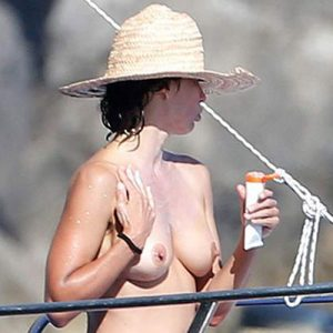 Sophie Marceau Nude Tits on the Yacht in Capri