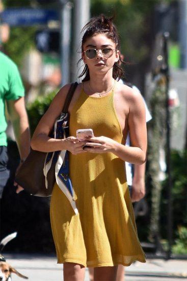 Sarah Hyland sexy yellow dress