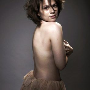 Hayley Atwell covered topless