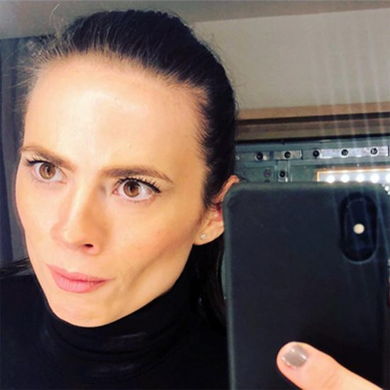 Hayley Atwell sexy mirror selfie
