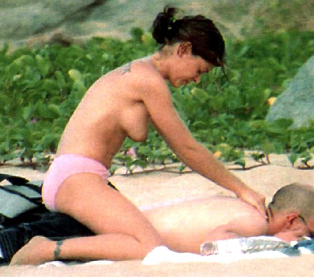 Alyssa Milano Tits alyssa milano nude pussy and tits on the beach - scandal planet