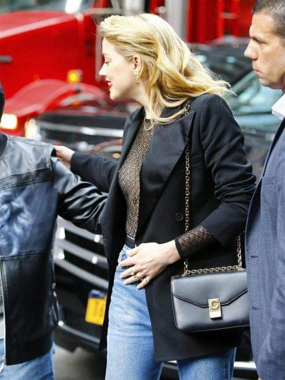 Amber Heard black top