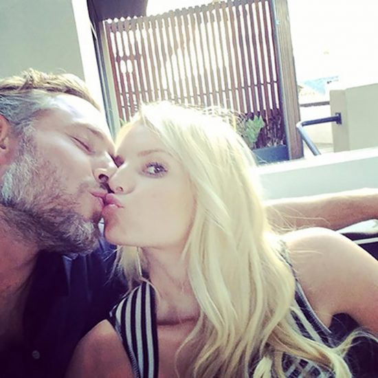 blonde kissing a guy