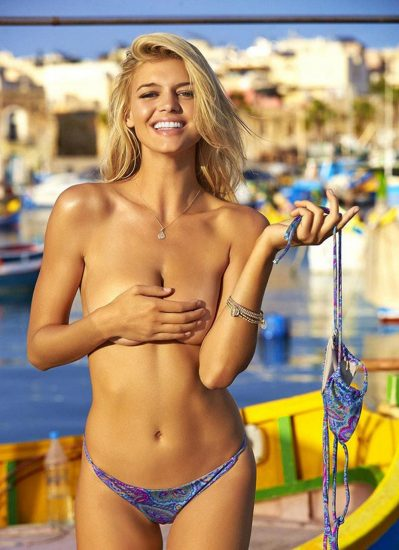 Kelly Rohrbach topless for SI