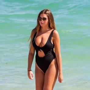 Zara McDermott swimwear