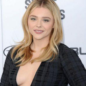 Chloe Grace Moretz boobs while braless